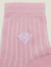 Baumwollstrümpfe Mit Stickerei : Socken farbe Rose pastel