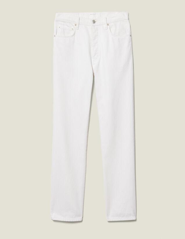 Slim-Fit-Jeans Aus Baumwolle : Neue Kollektion farbe Weiß