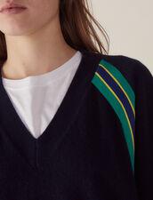 Pullover Mit Langen Ärmeln Und Borten : Pullover & Cardigans farbe Marine