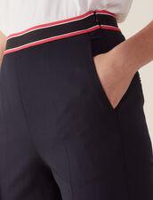 Gerade Geschnittene Hose : Hosen farbe Marine