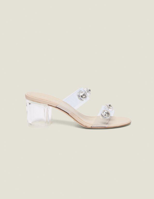 Riemchenpantoletten Aus Pvc : Schuhe farbe Transparent