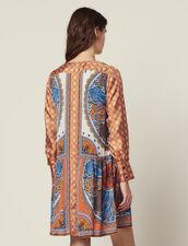 Kurzes Geknöpftes Kleid Mit Print : null farbe Bunt