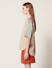 Hemdbluse Mit Dreifarbigen Streifen : Bedrucktes Hemd farbe Bunt