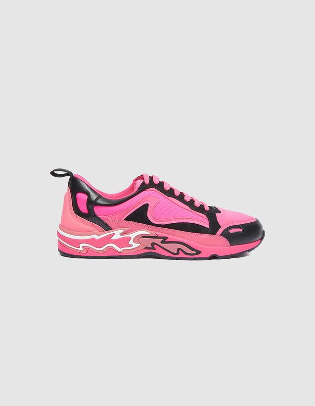 Sneaker Flame : Schuhe farbe Neon-Rosa