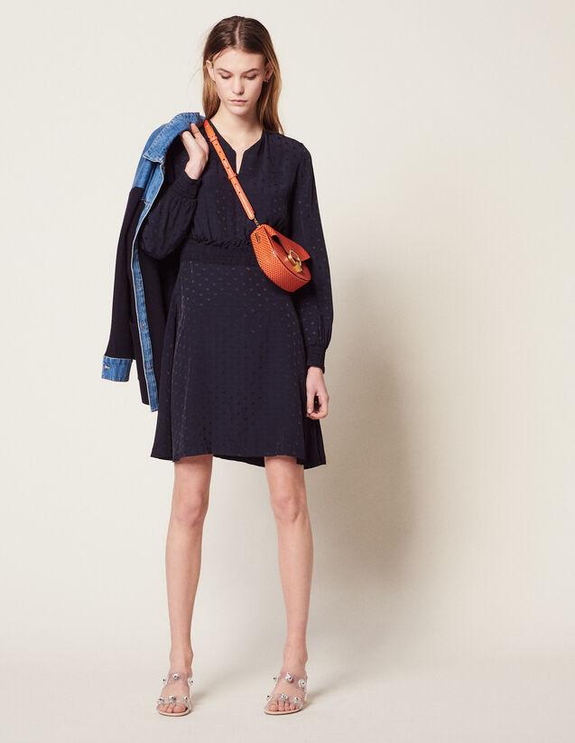 Kurzes Kleid Aus Jacquard : Kleider farbe Marine