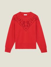 Pullover Mit Stehkragen Mit Plastron : LastChance-ES-F50 farbe Rot