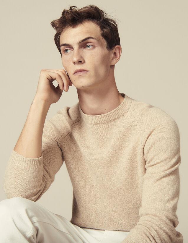 Melierter Raglanpullover : Pullovers & Cardigans farbe Camel