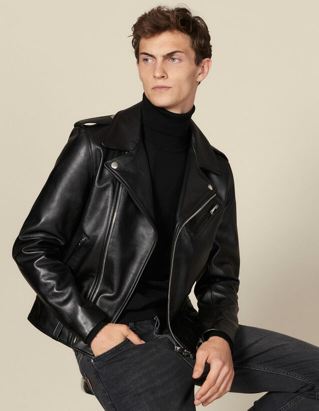 Perfecto aus Leder : Blousons & Jacken farbe Schwarz