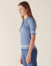 Pullover Im Polo-Stil : null farbe Bleu jean