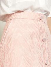 Kurzer Rock aus Zebra-Jacquard : Röcke & Shorts farbe Rosa