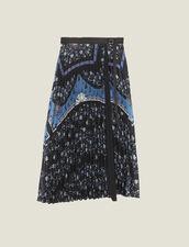 Langer Wickelrock Mit Sonnenplissee : Röcke & Shorts farbe Blau
