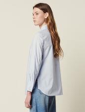 Popeline-Hemdbluse Mit Hohen Manschetten : Tops & Hemden farbe Weiß