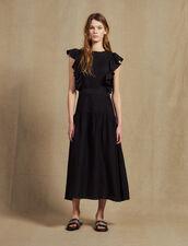 Langes Fließendes Ärmelloses Kleid : Kleider farbe Schwarz