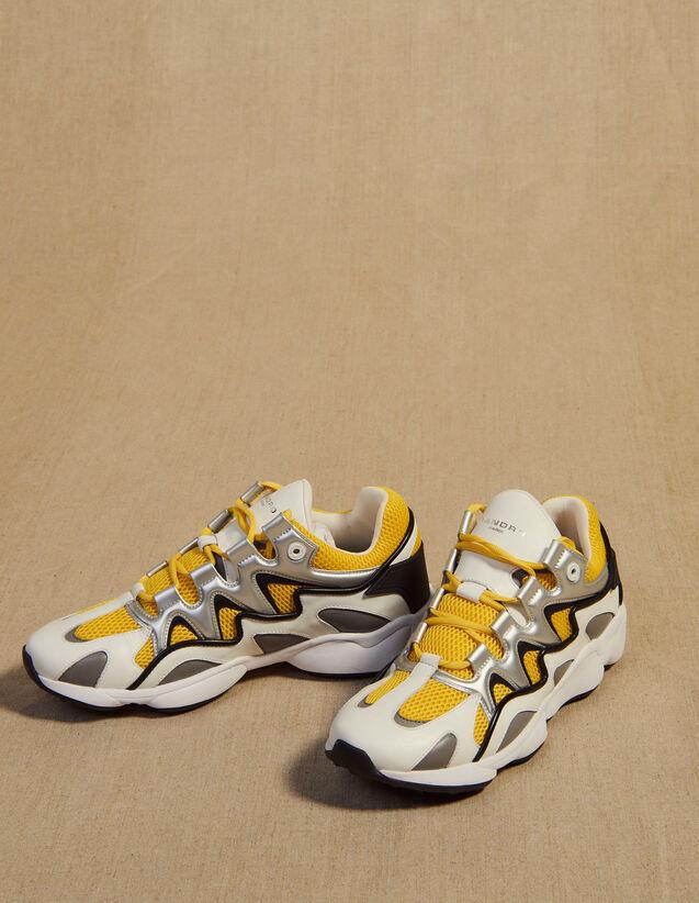 Material Mix Sneakers : Schuhe farbe Blau