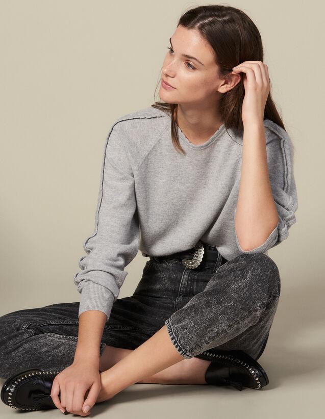 Pullover Mit Rüschendetails : Pullover & Cardigans farbe Hellgrau