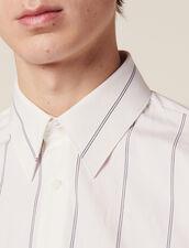 Hemd Aus Baumwolle Mit Doppelstreifen : Sélection Last Chance farbe Weiß