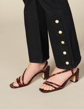 Ausgestellte Jeans mit Schlitzen : FBlackFriday-FR-FSelection-Pantalons&Jeans farbe Schwarz