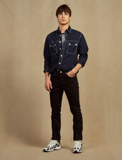 Gerade Jeans Aus Baumwolltoile : Sélection Last Chance farbe Schwarz