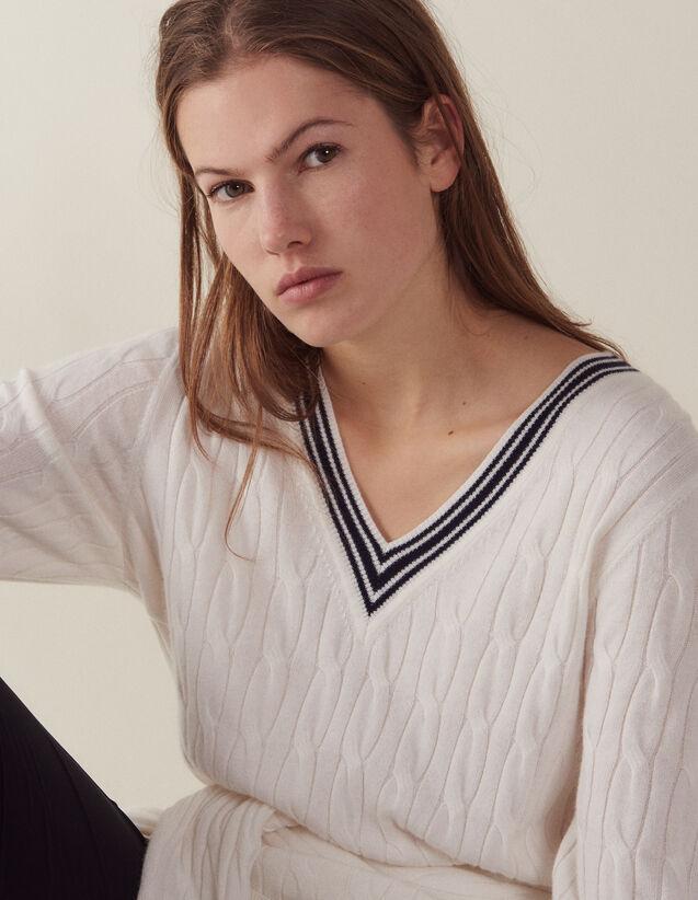 Pullover Aus Zopfmusterstrick : Pullover & Cardigans farbe Ecru