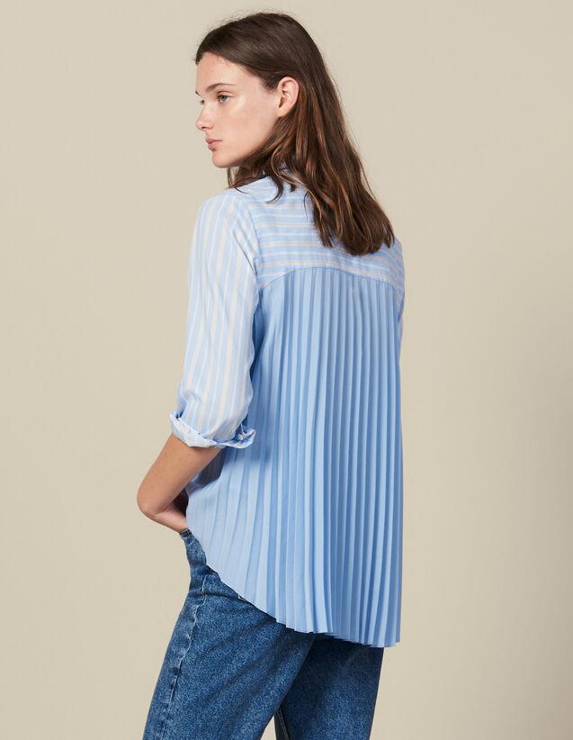 Asymmetrische Hemdbluse Mit Plissierung : Tops & Hemden farbe Ciel