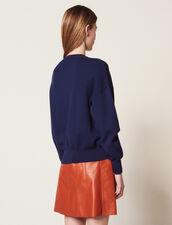 Pullover Mit Schriftzug Vorne : Pullover & Cardigans farbe Marine