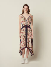 Fließendes Ärmelloses Kleid Mit Print : null farbe Bunt
