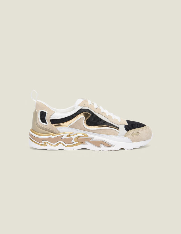 Sneaker Flame : Schuhe farbe Gold