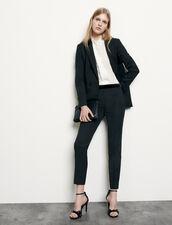 Gerade geschnittene Kostümhose : Hosen farbe Schwarz