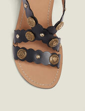 Sandalen Mit Absatz Und Nietendetails : null farbe Schwarz