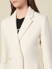 Tweedjacke mit Perlenknöpfen : Blousons & Jacken farbe Ecru