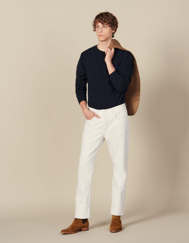 Slim-Fit-Jeans aus Baumwolle : Die ganze Winterkollektion farbe Weiß