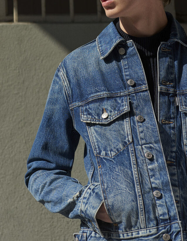 Vintage-Jacke aus Jeans : Jede Auswahl farbe Blue Vintage - Denim