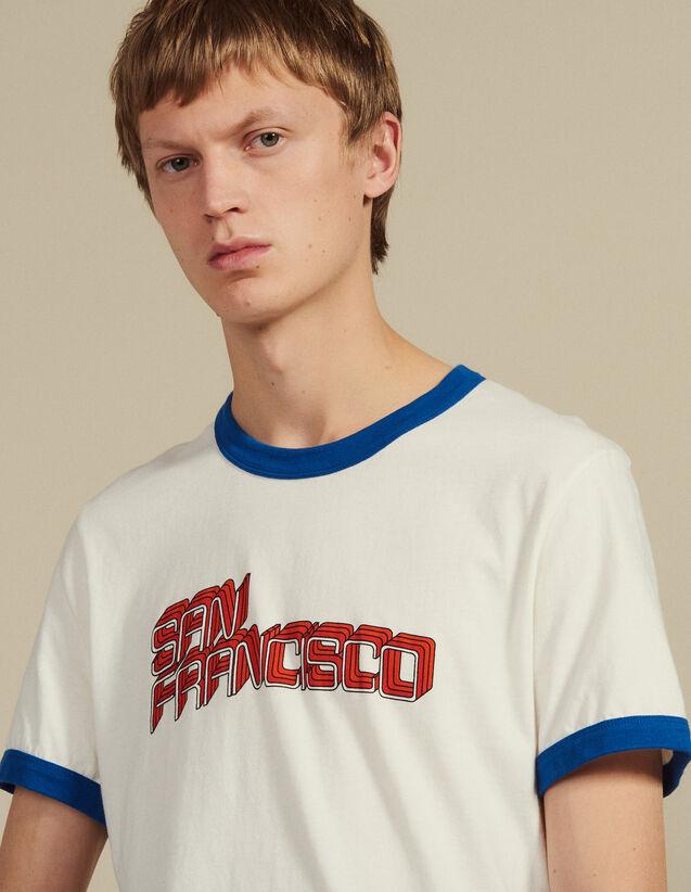 T-Shirt Mit Schriftzug : T-Shirts & Polos farbe Weiß