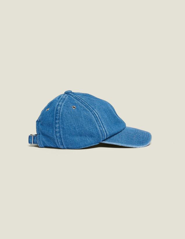 Kappe Aus Verwaschenem Denim : Kappen farbe Blau
