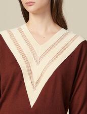 Pullover Mit V-Ausschnitt : FBlackFriday-FR-FSelection-Pulls&Cardigans farbe Brown