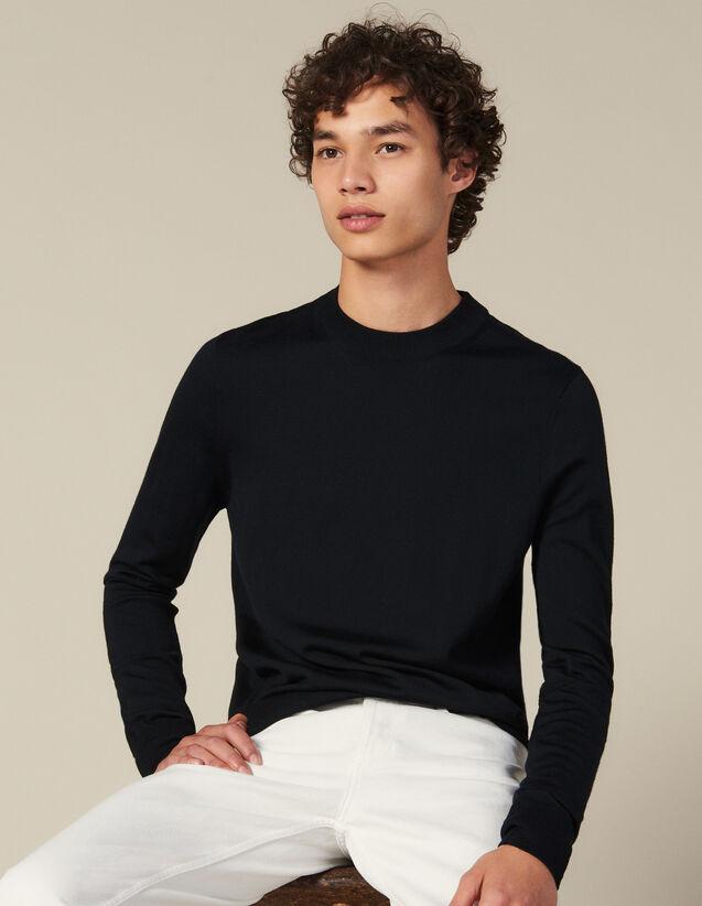 Wollpullover Mit Rundhalsausschnitt : Pullovers & Cardigans farbe Marine