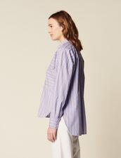 Baumwollhemd Mit Streifen : null farbe Blau