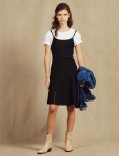 Kurzes Strickkleid Mit Trägern : null farbe Schwarz