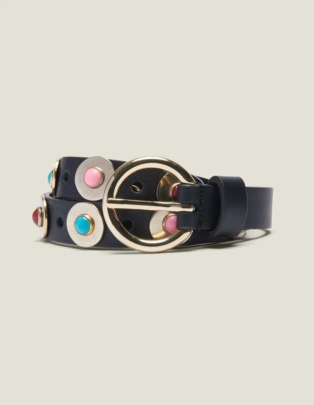 Gürtel Mit Dekorativen Perlen : Sommer Kollektion farbe Schwarz