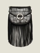 Pépita Tasche Kleines Modell Mit Fransen : Taschen farbe Schwarz