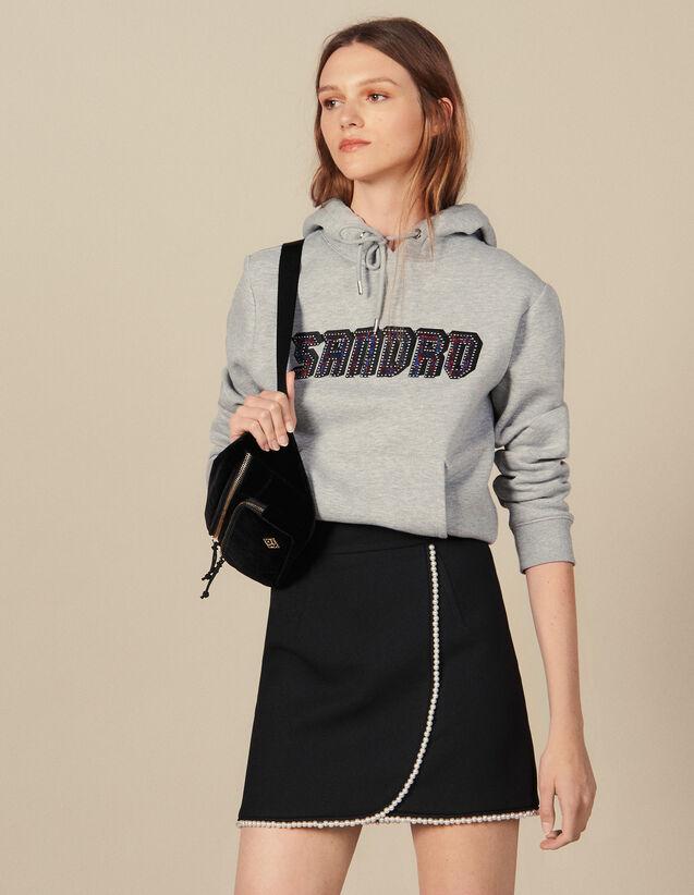 Kurzer Rock Mit Perlenverzierung : Röcke & Shorts farbe Schwarz