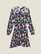 Fließendes Kleid Mit Allover-Print : null farbe Schwarz