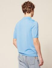 Kurzarm-Poloshirt Aus Feinstrick : Sélection Last Chance farbe Ecru
