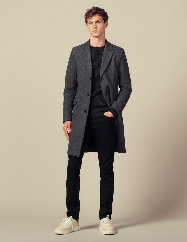 Langer Mantel Mit Drei Knöpfen : Trench & Mäntel farbe Grau Meliert