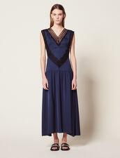 Langes Fließendes Kleid : null farbe Marine