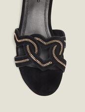 Herz-Sandalen Aus Veloursziegenleder : null farbe Schwarz