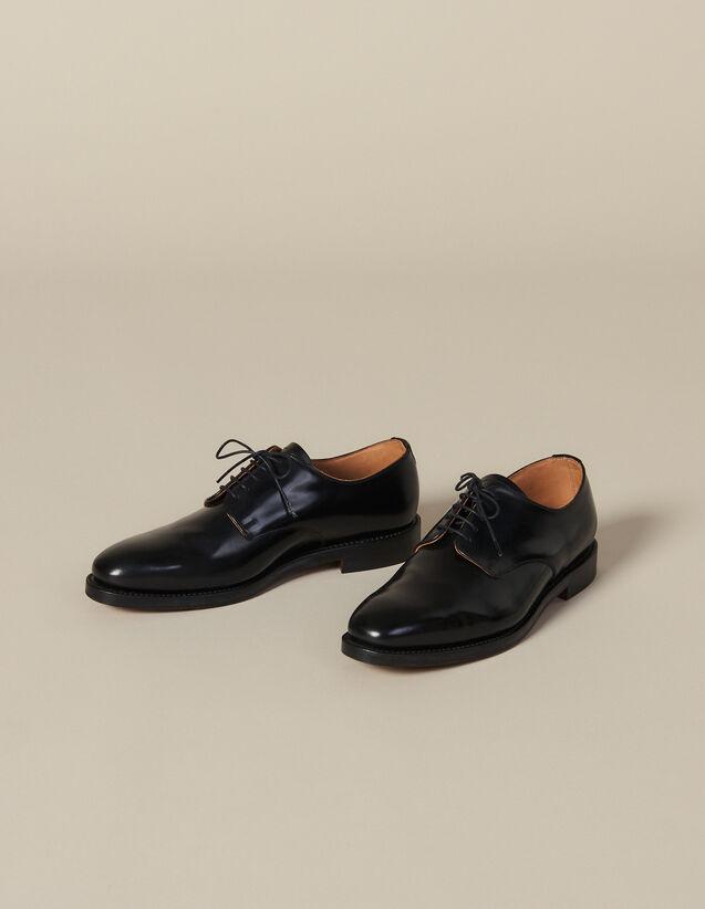 Derby-Schuhe Aus Leder : Neue Kollektion farbe Schwarz