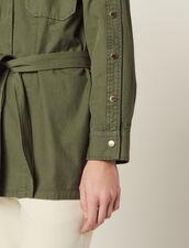 Jacke Mit Gürtel Und Druckknöpfen : Blousons & Jacken farbe Khaki