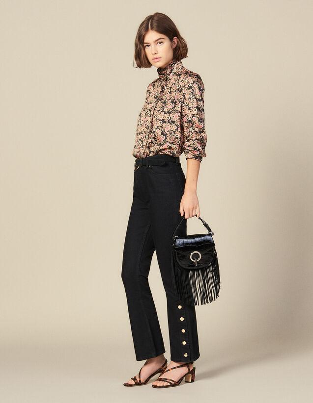 Ausgestellte Jeans Mit Schlitzen : Jeans farbe Schwarz