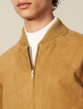 Reißverschluss-Blouson Aus Wildleder : Blousons & Jacken farbe Beige